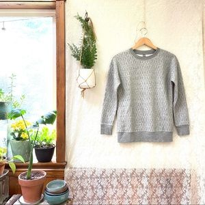 Uniqlo Quilted Long Sleeve Pullover Sweatshirt